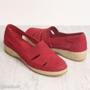 Red Jute Wrapped Slip On Sandals by Grasshoppers